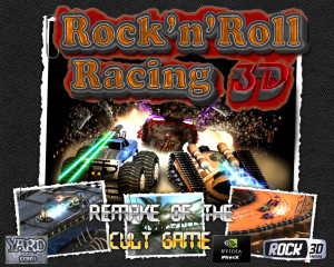 rock n roll racing 3d - title