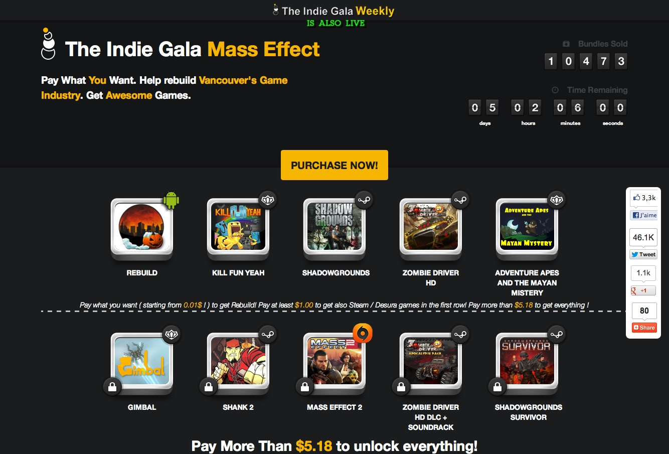 The Indie Gala Mass Effect (suite)