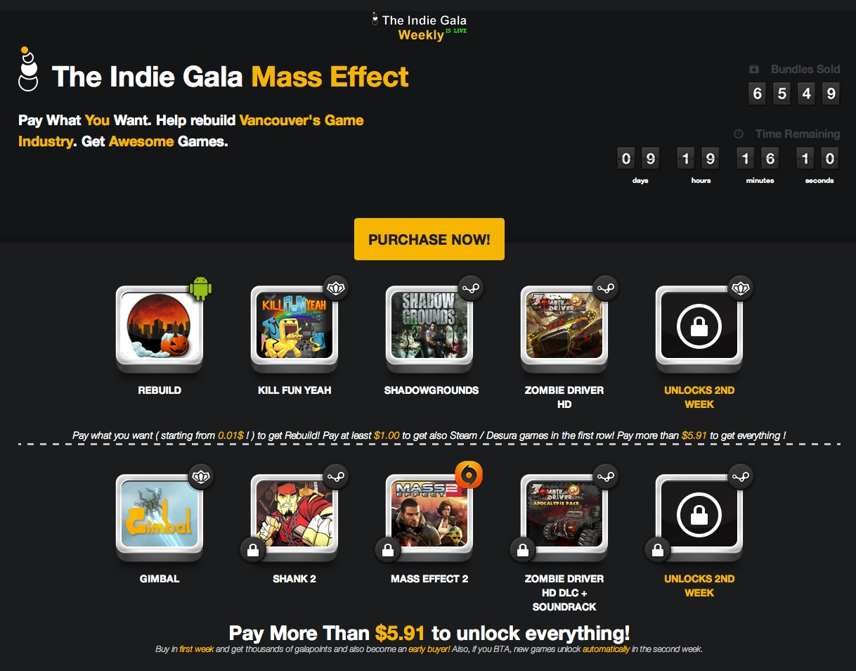 The Indie Gala Mass Effect