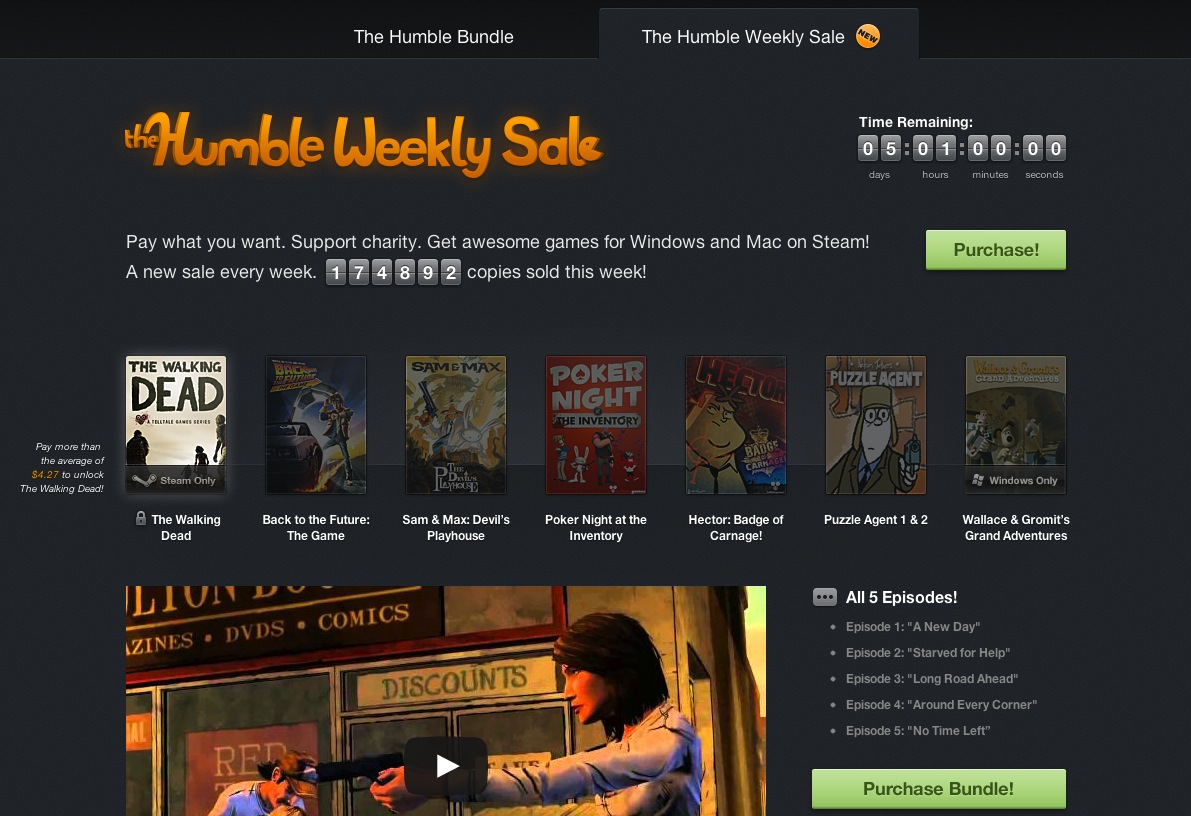 The Humble Weekly Sale – jusqu'au 06 juin 2013