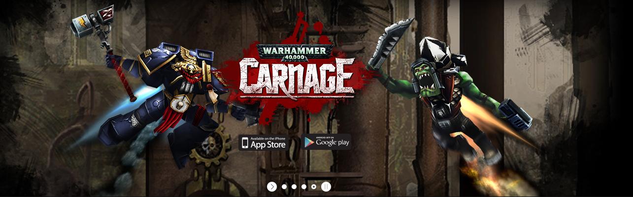 Warhammer 40.000 - Carnage - bannière