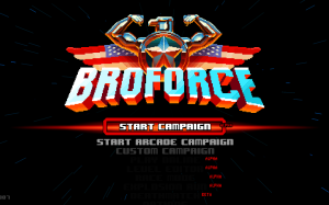 Broforce - menu logo
