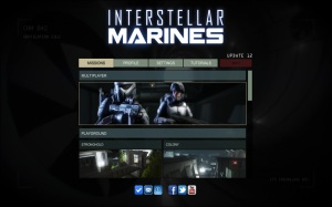 Interstellar Marines - menu
