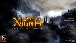 Lords of Xulima - menu
