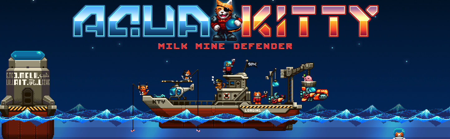 Aqua Kitty – Milk Mine Defender - bannière