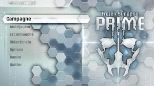 Frozen Synapse Prime - menu