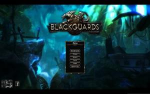 Blackguards - menu