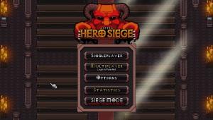 Hero Siege - menu