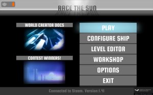 Race The Sun - menu