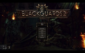 Blackguards 2 - menu