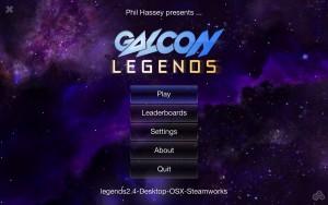 Galcon Legends - menu