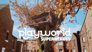 Playworld Superheroes - logo