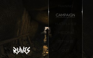Runes of Brennos - menu