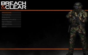 Breach & Clear - menu