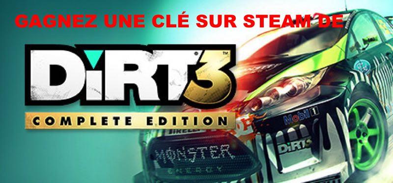 CONCOURS : Gagnez une clé du jeu DiRT 3 Complete Edition