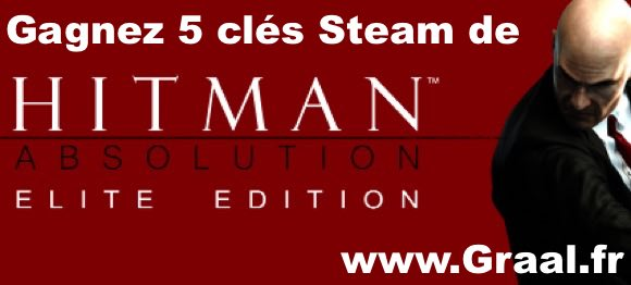 CONCOURS : Gagnez 5 clés Steam du jeu Hitman Absolution: Elite Edition