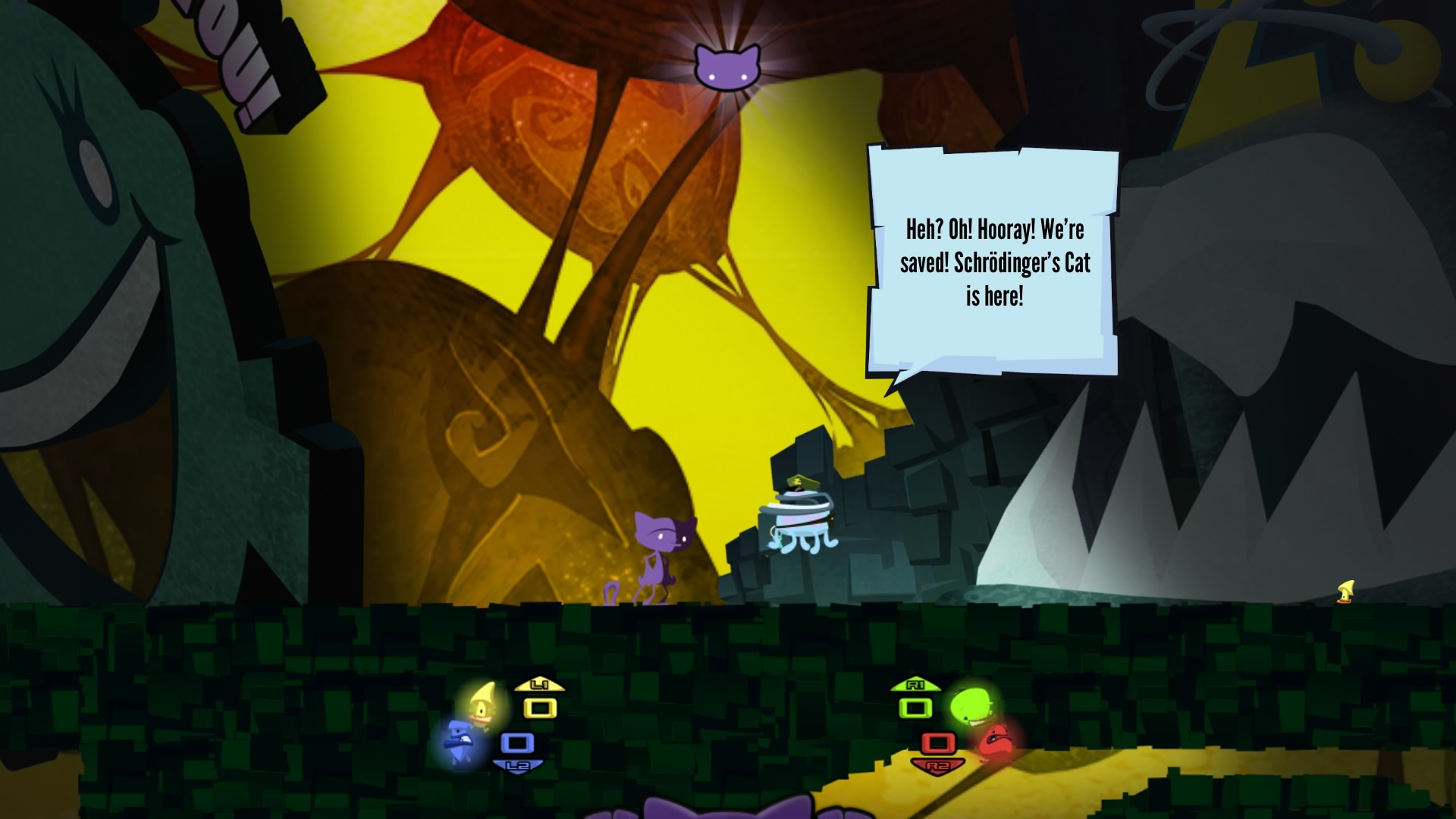 Schrödinger's Cat : Raiders of the Lost Quark