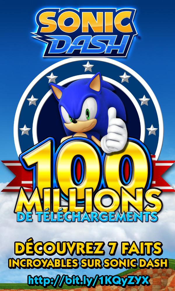Sonic Dash : 100 millions de téléchargement