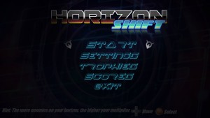 Horizon Shift - menu