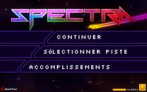 Spectra - menu