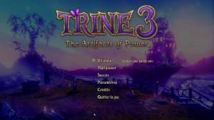 Trine 3 - menu