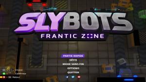 Slybots - menu