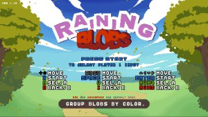 Raining Blobs - commandes