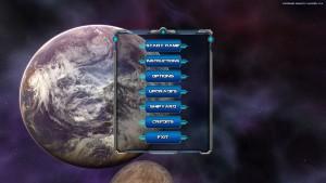 Asteroid Bounty Hunter - menu