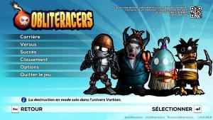 Obliteracers - menu