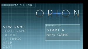 Orion - menu