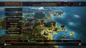 Magicka 2 - menu
