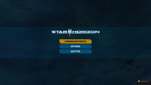Star Horizon - menu