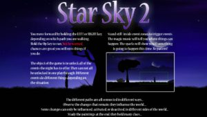 Star Sky 2 - menu