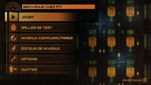Stealth Inc 2 - menu