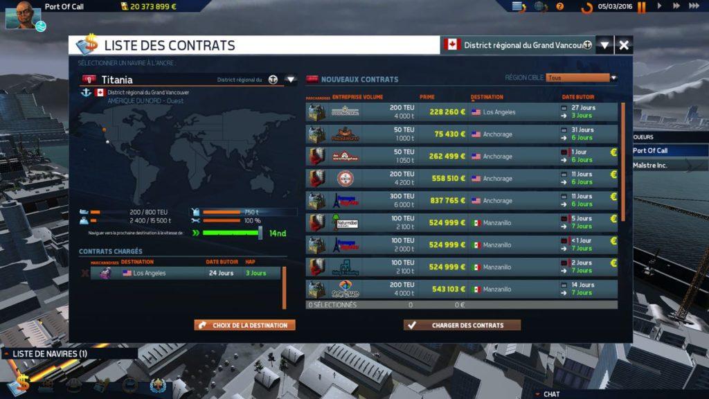 TransOcean 2 - Rivals - contrats