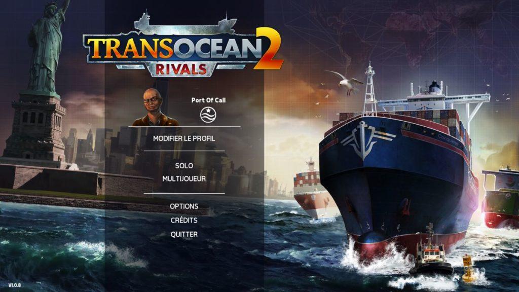 TransOcean 2 - Rivals - menu