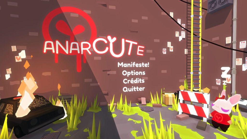 Anarcute - menu