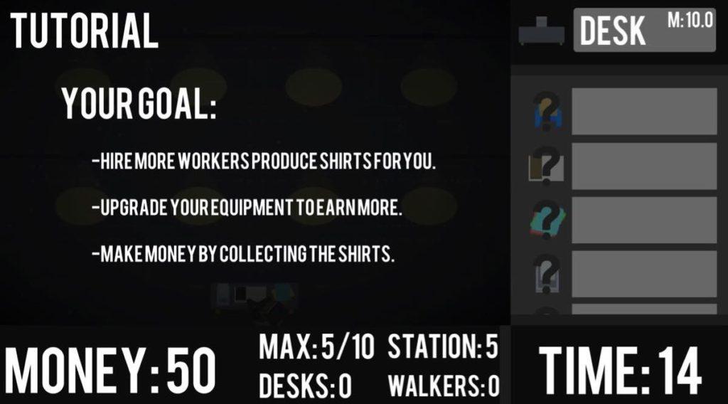 SweatShop - objectifs