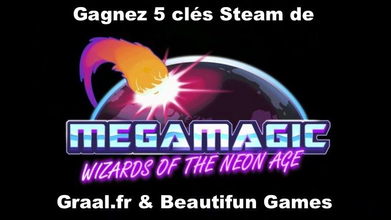 CONCOURS : Gagnez 5 clés Steam du jeu Megamagic: Wizards of the Neon Age