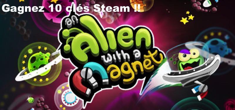 CONCOURS : Gagnez 10 clés Steam du jeu An Alien with a Magnet